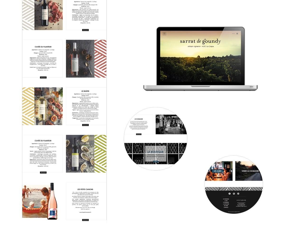 KFH, Webdesign Sarrat de Goundy