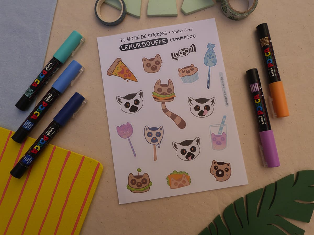 Stickers LemurBouffe
