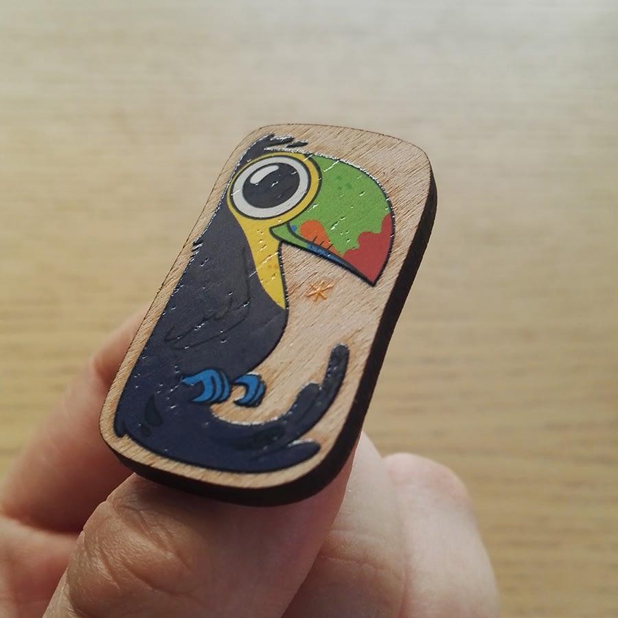 Pins du toucan, détails