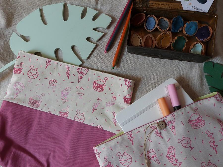 Pochettes DinoBouffe - couleur rose