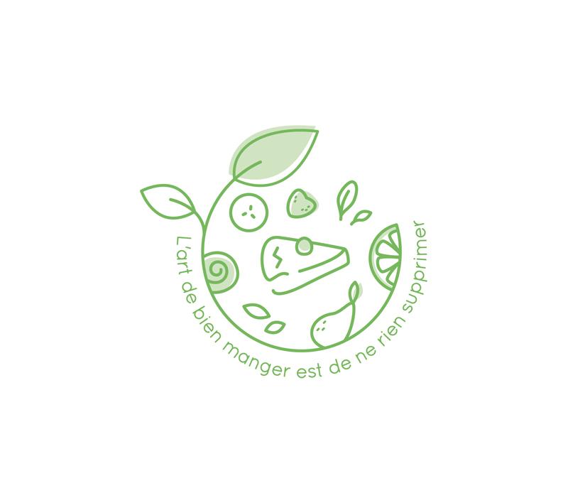 Logo pour une diététicienne bien-être