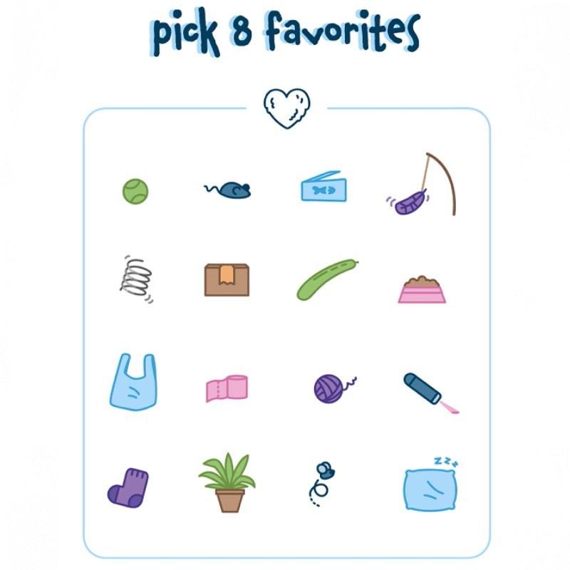 Choix entre 16 objets différents