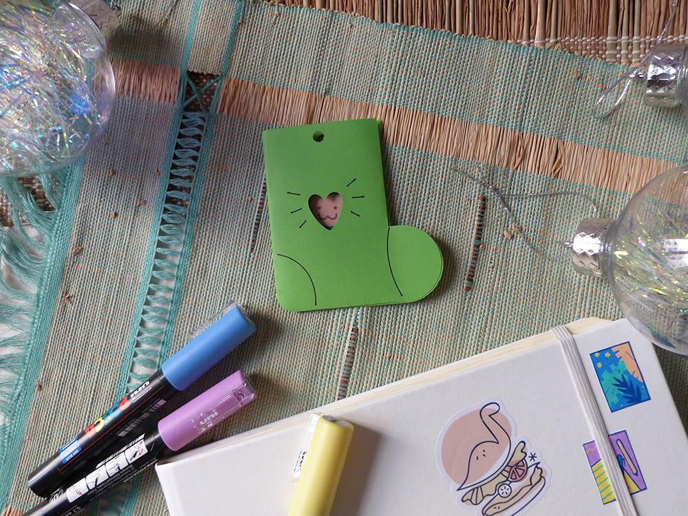 Animaux Biscuits Mignons dans leur chaussette en papier - Cute cookies animals in their paper sock