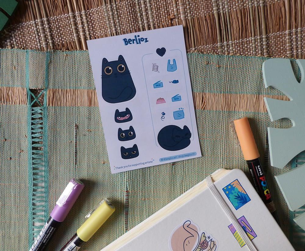 Autocollants Chats personnalisés - custom stickers of your cat